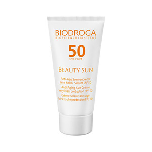 비오드로가 뷰티 썬 안티에이지 썬크림 SPF 50 50ml, BIODROGA Beauty Sun Anti-Aging Sun Creme Very High Protection SPF 50 50ml